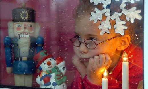 Warten auf das Christkind - und den Schnee