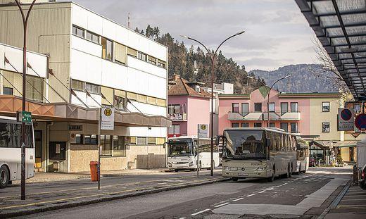 Autobusbahnhof Völkermarkt April 2021
