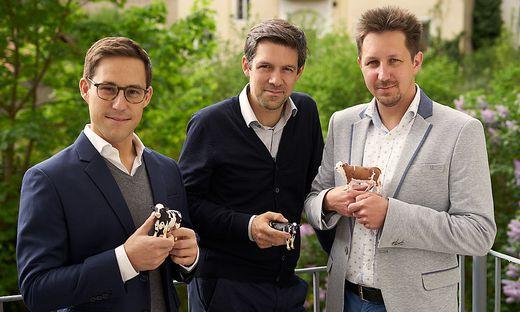 smaXtec-Trio: Robin Waluschnig, Stefan Rosenkranz, Mario Fallast