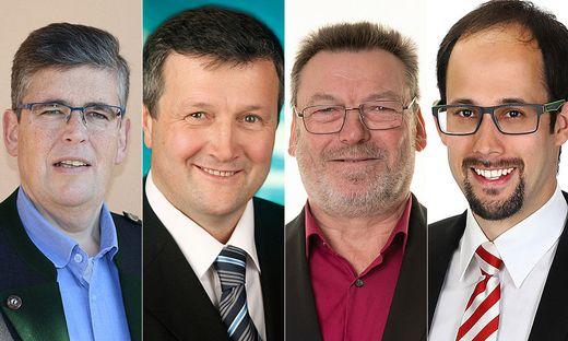 Bernhard Pintar. Johann Schmid, Manfred Hernach und René Lampel gehen als Spitzenkandidaten in St. Johann an den Start