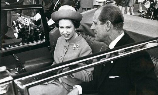 Staatsbesuch der Queen und ihrem Mann Prinz Philip am 5. Mai 1969 in Österreich