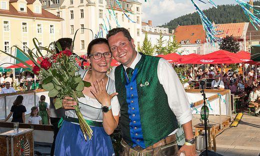 Bernadette Steflitsch und Seppi Adam nach getaner Arbeit