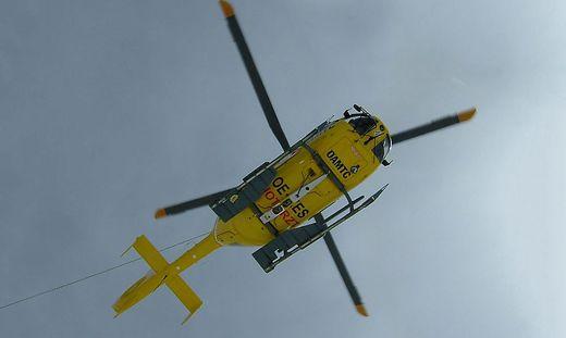 Mit dem Christophorus-Hubschrauber wurde der Mann ins Krankenhaus geflogen