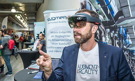 """Das Klagenfurter Unternehmen """"Augmensys"""" führte eine Datenbrille vor"""