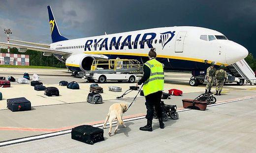 Ryanair-Maschine wurde umgeleitet und in Minsk zur Landung gezwungen