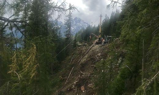 In diesem extrem steilen Gelände kam es zum Unglück