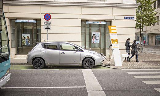 E-Ladestation in der 8. Mai-Straße in Klagenfurt