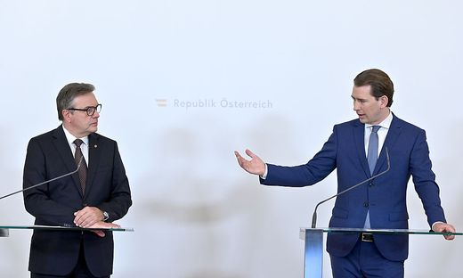 Tirols Landeshauptmann Günther Platter und Bundeskanzler Sebastian Kurz