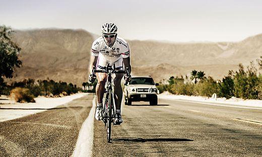 David Misch beim Race across America 2013