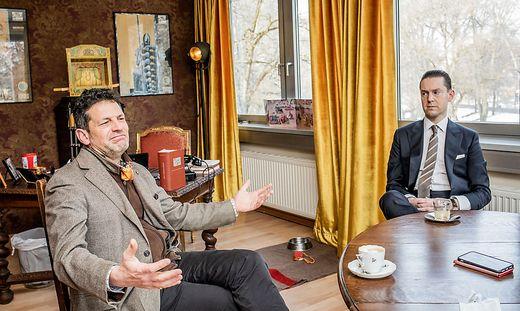 Stadttheater Klagenfurt Interview mit Aron Stiehl und dem neuen kaufmaennischen Direktor Matthias Walter