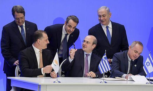 Vertragsunterzeichnung in Athen