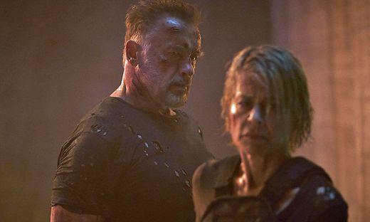"Arnold Schwarzenegger und Linda Hamilton in ""Terminator: Dark Fate"""