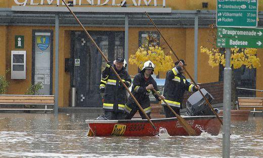Verheerendes Hochwasser in Lavamünd 2012: In dem Kärntner Ort wurde damals Zivilschutzalarm ausgelöst
