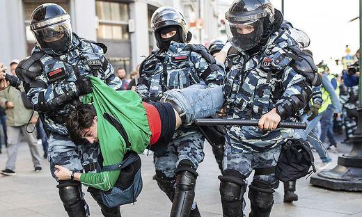 Festnahmen nach Demonstration in Moskau