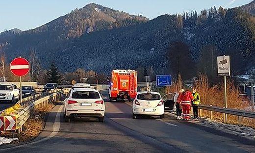 Zwei Autos waren am Unfall beteiligt