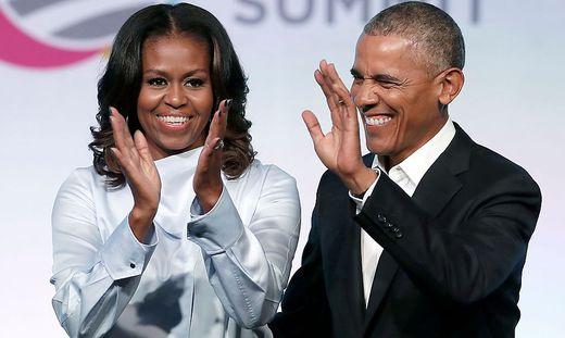 Barack Obama und die ehemalige First Lady Michelle Obama