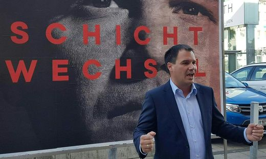 STEIERMARK-WAHL: PRAeSENTATION SPOe STEIERMARK 'PLAKATE FUeR DIE LANDTAGSWAHL': SCHICKHOFER