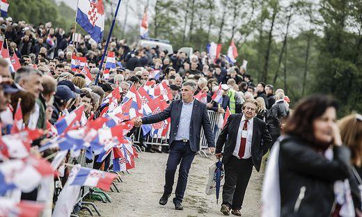 Das Kroatentreffen in Bleiburg ist alljährlich ein Tummelplatz für kroatische Politiker
