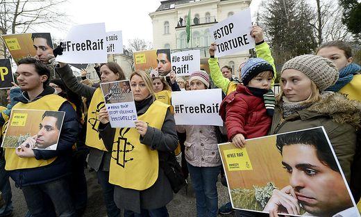 Kundgebung vor der saudischen Botschaft in Wien