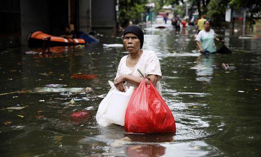 Überflutete Hauptstadt Jakarta