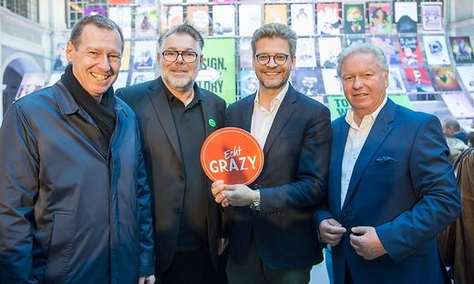 Heimo Maieritsch, Eberhard Schrempf, Martin Wäg und Erwin Sacher
