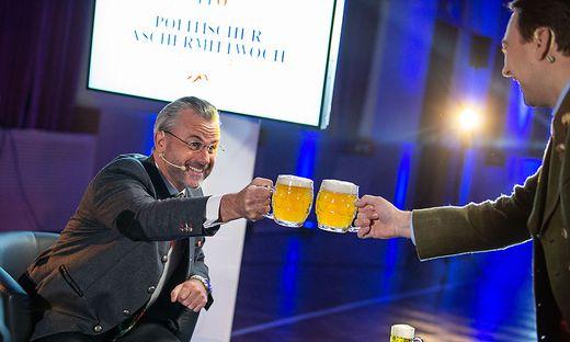 Für Hofer und Haimbuchner gab es trotzdem Bier.