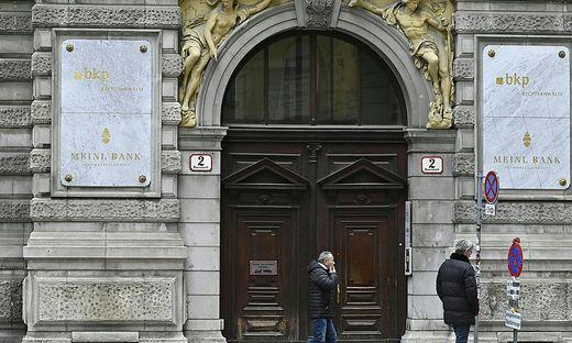 Die Zentrale der Anglo-American-Bank, vormals Meinl-Bank