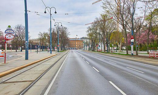 Leere Straßen im Frühjahr