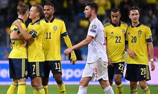 Jubel bei Schweden, Frust bei Spanien