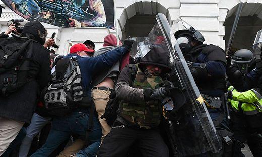 Der von Trump aufgestachelte Mob vor dem US-Kapitol