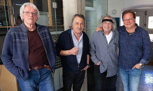 Günter Timischl, Gert Steinbäcker, Schiffkowitz und Ewald Pfleger