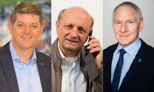 Die Spitzenkandidaten Gerhard Rohrer (ÖVP), Harald Schögler (SPÖ) und Rudolf Reinprecht (FPÖ)