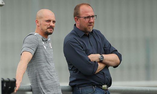 Günter Kreissl (rechts) mit Sturm-Trainer Nestor El Maestro