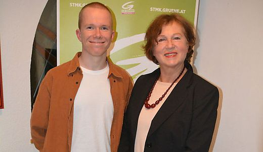 Bezirkssprecherin Brigitte Rupp mit ihrem Stellvertreter Alexander Ortner