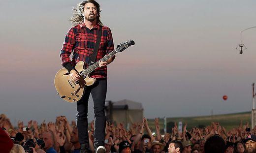 Dave Grohl und seine Foo Fighters spielen beim Nova-Rock-Festival 2022 auf