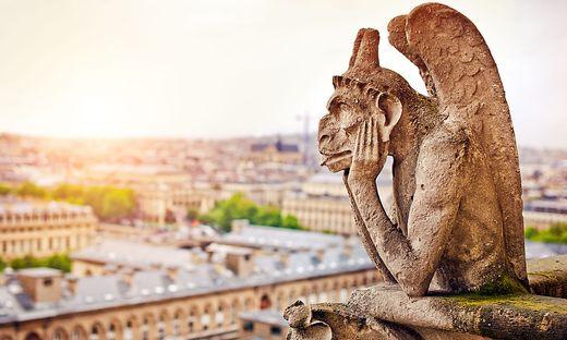Melancholisch: ein Wasserspeicher auf der Notre-Dame