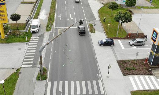 An dieser Kreuzung in Wolfsberg ereignete sich am 5. Oktober 2020 der tödliche Unfall