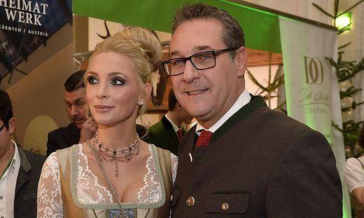 Heinz-Christian und Philippa Strache