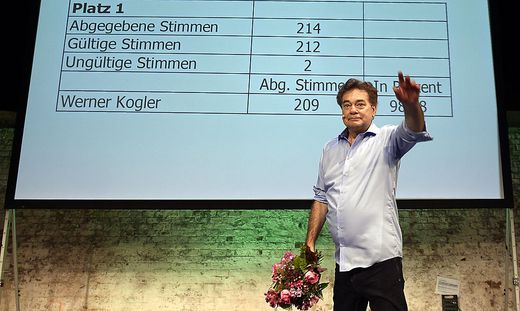Der Bundeskongress im Juli 2019 wurde zum Triumph für Werner Kogler