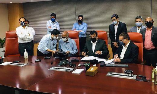 Vertragsunterzeichnung zur Lieferung der elektromechanischen Ausrüstung für das Pumpspeicherkraftwerk Pinnapuram