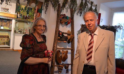 Franca Venuti und Gerhard Huber bei der Eröffnung