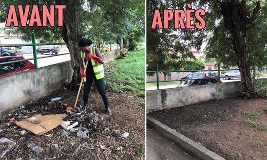 Auf der ganzen Welt räumen Social-Media-Nutzer säckeweise Müll weg und zeigen Vorher-Nachher-Bilder davon im Netz