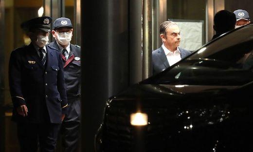 Carlos Ghosn wurde am Donnerstag unter strengen Auflagen erneut aus der U-Haft entlassen.