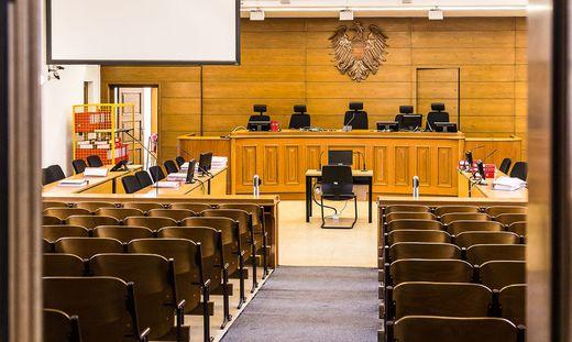 Offene Tür. Besucher können Verhandlungssäle besuchen und sich generell ein Urteil über das Landesgericht bilden