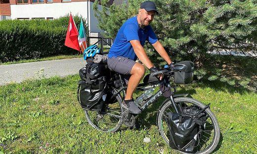 Martin McGouran fährt für den guten Zweck 5400 Kilometer mit dem Fahrrad