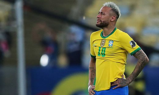 Final Copa Am�rica 2021 - Argentina vs Brasil Neymar do Brasil, lamenta a derrota ap�s a partida entre Argentina e Brasi