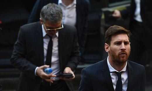 Lionel Messi und sein Vater Jorge