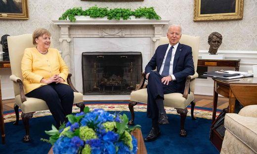 Entspannte Atmosphäre: Angela Merkel zu Gast bei Joe Biden