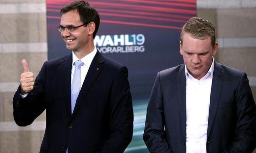 LH Markus Wallner (ÖVP), Christof Bitschi (FPÖ)