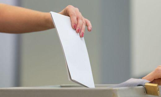 Landtagswahl Sachsen - Wahllokal